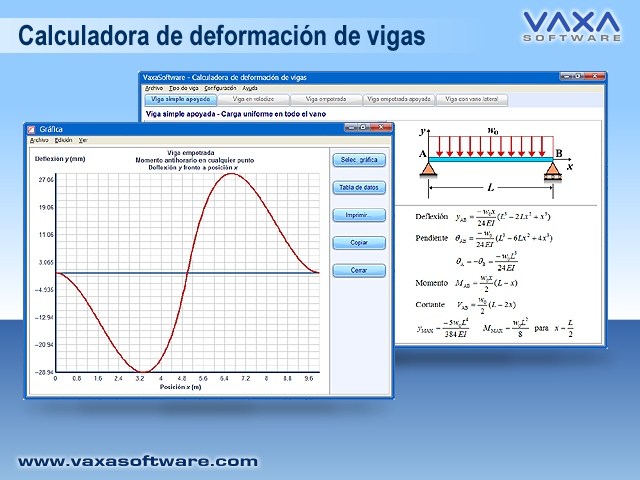 Calculadora de deformacion de vigas Screen shot