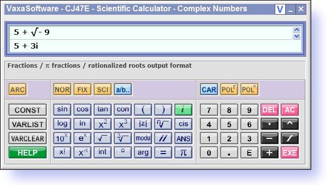 Free Scientific Calculator CJ47E full screenshot
