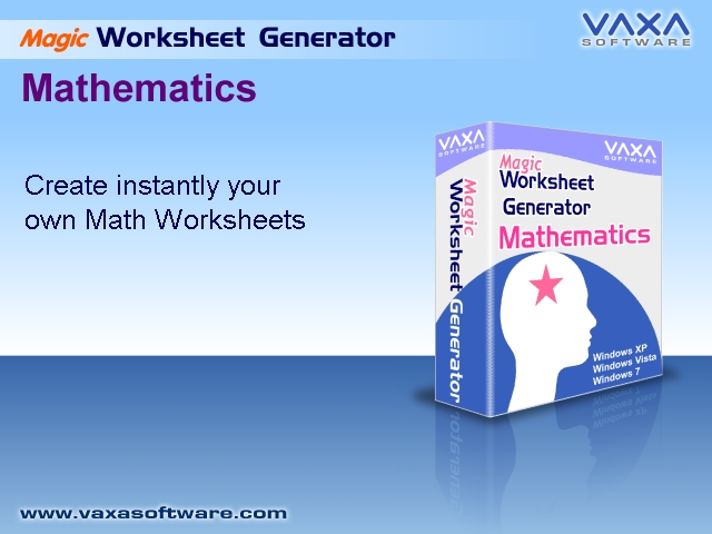 CMZ2 Worksheet Generator for Maths full screenshot