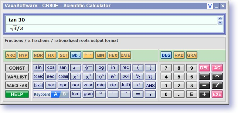 Scientific Calculator CR80E