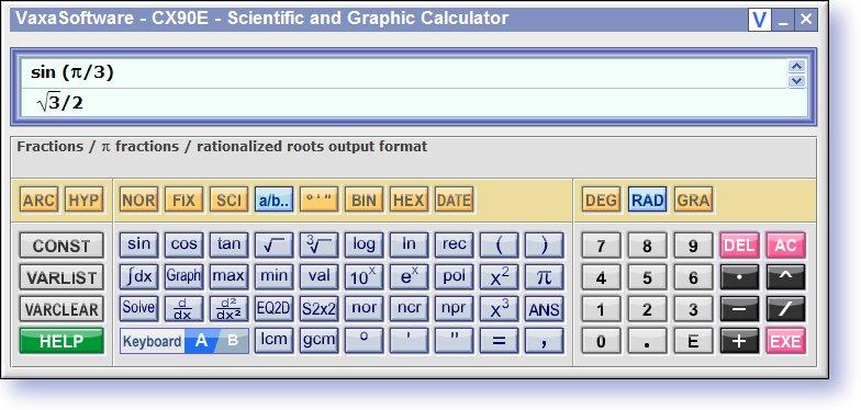 Scientific Calculator CX90E full screenshot