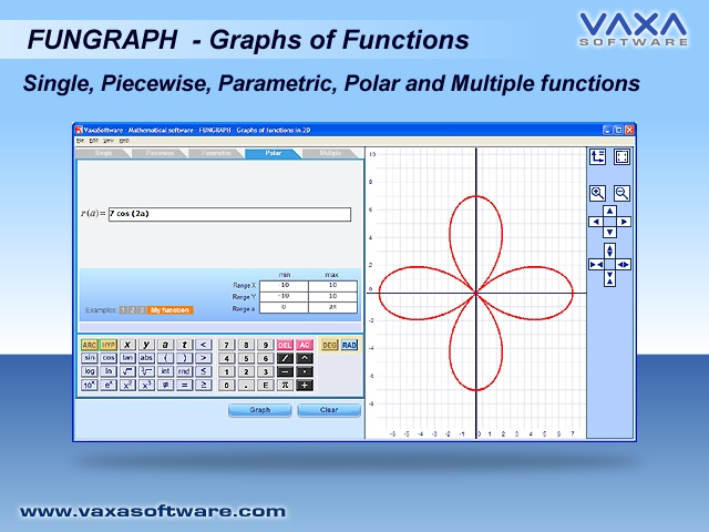Click to view FUGP - Fungraph - Graphs of functions 1.7 screenshot