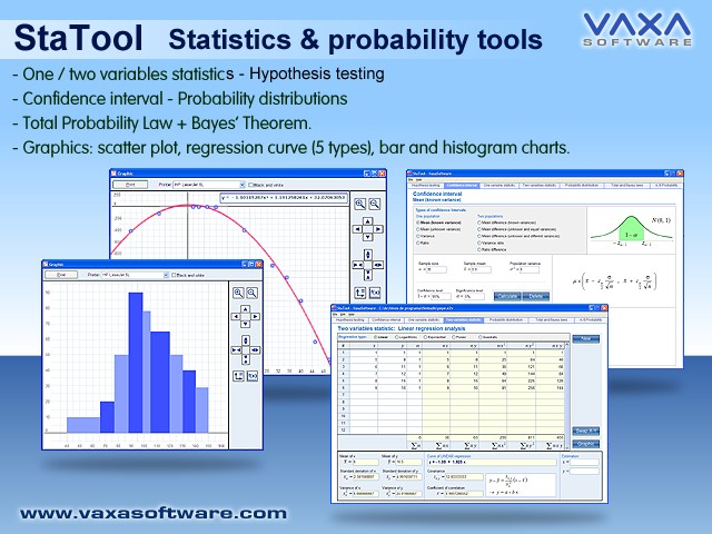 STATOOL Statistics and Probability Tools Screen shot
